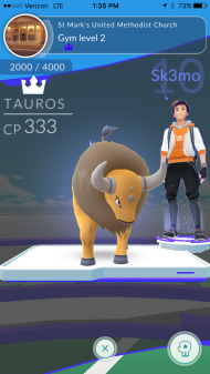 Rev. Darick Biondi goes by Sk3mo on Pokémon Go, and he was the first United Methodist Pastor to take over the Conference Center Gym!