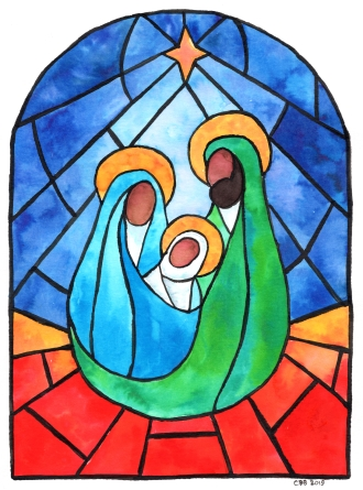 Holy Family Stained Glass copy 2